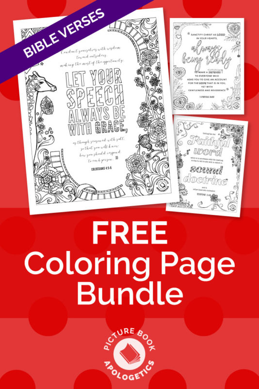 Free coloring page bundle PDF download - Bible verses