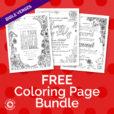 Free coloring page bundle